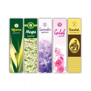 PRS Assorted Incense Stick 75gms (Pack of 5)